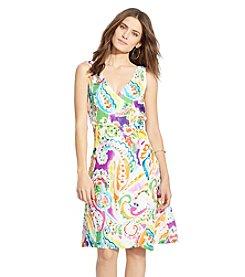Lauren Ralph Lauren® Paisley-Print Crepe Dress