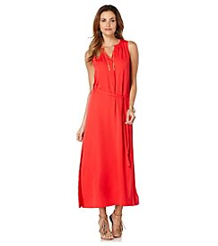 Rafaella® Solid Crepe Maxi Dress