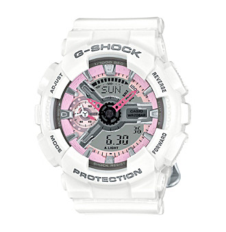 G-Shock Women's S-Series White and Pink Analog-Digital Watch
