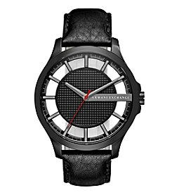 A|X Armani Exchange Men's Black IP Stainless Steel Watch With Black Dial