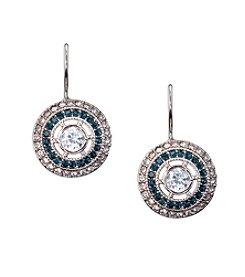 Lauren Ralph Lauren® Silvertone Bridal Freshwater Vintage Style Crystal Earrings
