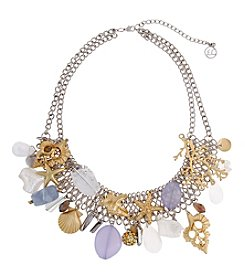 Erica Lyons® Two Tone White Out Statement Necklace