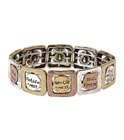 L&J Accessories Fruit Of The Spirits Tri Tone Believe In Stretch Bracelet