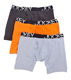 Jockey® Men's 4-Pack Active Stretch Midway Boxer Briefs