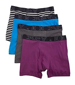 Jockey® Men's 4-Pack Active Blend Boxer Briefs