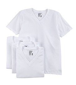 Jockey® Men's 3-Pack +1 Bonus Short Sleeve V-Neck Tees