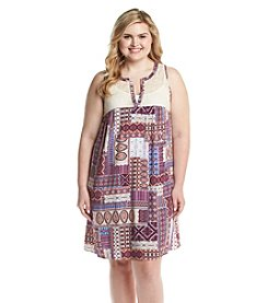 Living Doll® Plus Size Printed Lace Dress