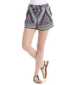Sequin Hearts® Printed Lace Up Knit Shorts