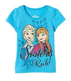 Disney® Girls' 4-6X Short Sleeve Sisters Rule! Frozen Tee