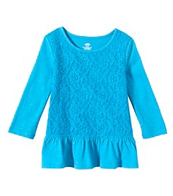 Mix & Match Girls' 2T-6X 3/4 Sleeve Lace Front Tee