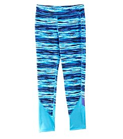 Exertek® Girls' 7-16 Print Blocked Active Leggings