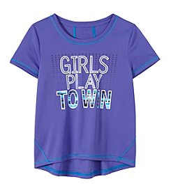 Exertek® Girls' 7-16 Short Sleeve Girls Play To Win Active Tee