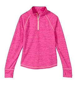 Exertek® Girls' 7-16 Long Sleeve Solid 1/4 Zip Active Pullover