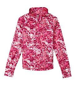Exertek® Girls' 7-16 Long Sleeve Printed 1/4 Zip Active Pullover