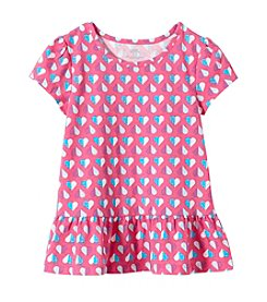 Mix & Match Girls' 2T-6X Short Sleeve Heart Peplum Tee