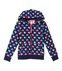 Mix & Match Girls' 2T-6X Hearts Printed Zip Up Hoodie