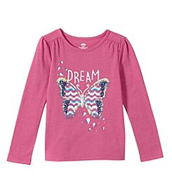 Mix & Match Girls' 2T-6X Long Sleeve Butterfly Printed Tee