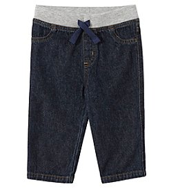 Mix & Match Baby Boys Knit Waistband Denim Pants