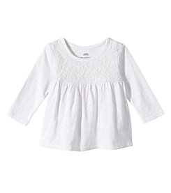 Mix & Match Baby Girls' Long Sleeve Lace Babydoll Tee