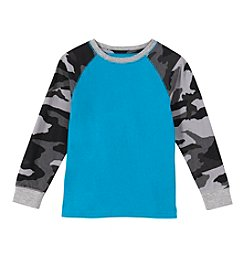 Mix & Match Boys' 2T-7 Long Sleeve Camo Raglan Tee