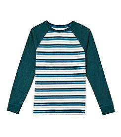Ruff Hewn Boys' 8-20 Long Sleeve Striped Raglan Tee