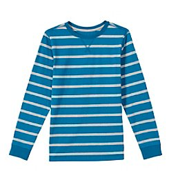 Ruff Hewn Boys' 8-20 Long Sleeve All-Over Stripe Tee