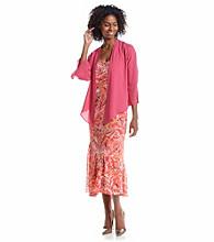 Notations® Printed Godet Dress