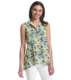 Notations® Printed Sleeveless Shirt