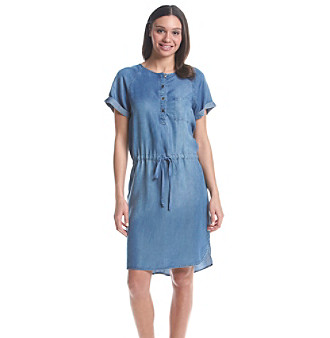 Nine West Jeans® Popover Shirt Dress