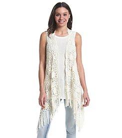 Fever™ Crochet Fringe Vest