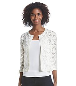 Fever™ Flower Mesh Cardigan