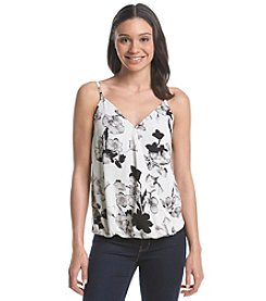 Black Rainn™ Floral Wrap Cami