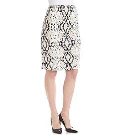 Calvin Klein Snake Skin Print Straight Skirt