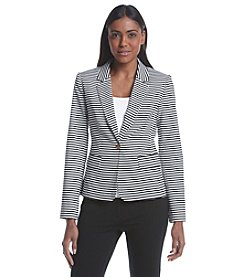 Calvin Klein Striped One Button Blazer