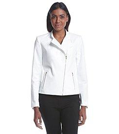 Calvin Klein Asymmetrical Front Zipper Moto Jacket