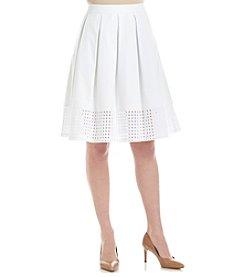 Calvin Klein Eyelet Hem Skirt