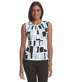Calvin Klein Pleated Graphic Top