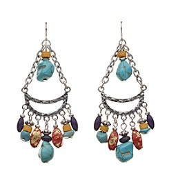 Relativity® Multi Beaded Drop Earrings