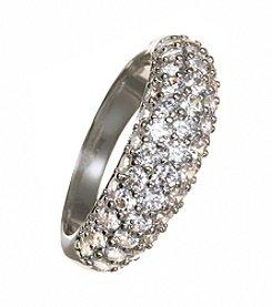 Swarovski® Silvertone Maeva Ring
