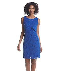 Ronni Nicole® Scalloped Sequin Lace Dress