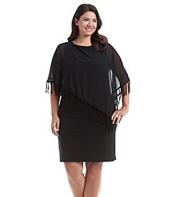 R&M Richards® Plus Size Capelet Short Dress