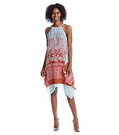 Prelude® Patterned Halter Trapeze Dress