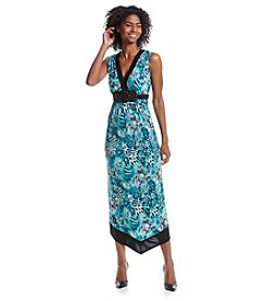 R&M Richards® Jewel Belt Patterned Dress