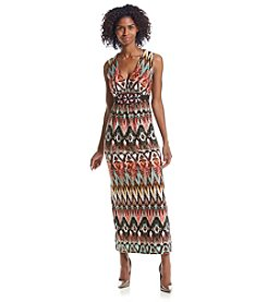 R&M Richards® Geo Patterned Maxi Dress