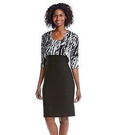 R&M Richards® Printed Tucked Jacket Dress