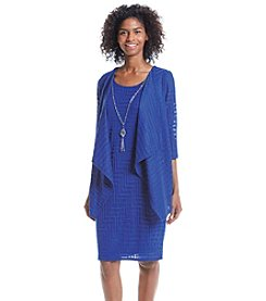 R&M Richards® Knit Necklace Jacket Dress