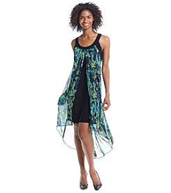 S.L. Fashions Patterned Chiffon Maxi Dress