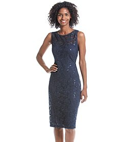 Ronni Nicole® Sequin Patterned Lace Sheath Dress