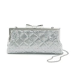 La Regale® Mesh Quilted Frame Clutch