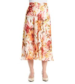 Laura Ashley® Petites' Peony Print Skirt